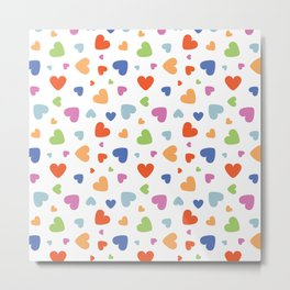 Valentine hearts colored Metal Print