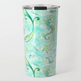 Mermaid Pattern 01 Travel Mug