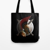 warrior Tote Bags featuring Warrior by Det Tidkun