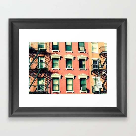 Orange Houses, New York Framed Art Print