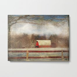 Misty Mountain Barn Metal Print