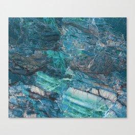 Siena turchese - blue marble Canvas Print