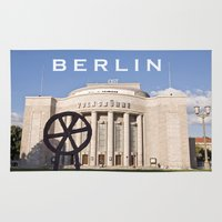 theatre Area & Throw Rugs featuring BERLIN OST - VOLKSBÜHNE - Theatre by CAPTAINSILVA