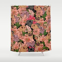 Because Pugs Shower Curtain
