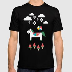 The Snowy Day Mens Fitted Tee MEDIUM Black
