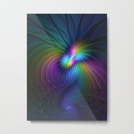 Colorful and Luminous, Abstract Fractals Art Metal Print