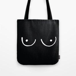 Black Boobs Tote Bag