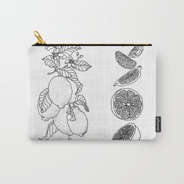 Citrus Branch of Lemons and Slices of Fruit Carry-All Pouch