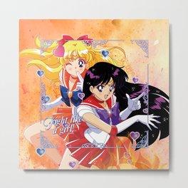 Sailor Mars & Venus Metal Print