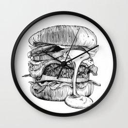 Mac'n ink Burger Wall Clock