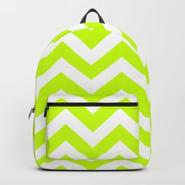 Electric lime - green color - Zigzag Chevron Pattern Backpack