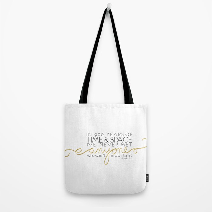 Dr. Who Time & Space Tote Bag