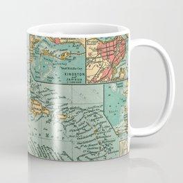 Vintage Map of The Caribbean (1906) Coffee Mug