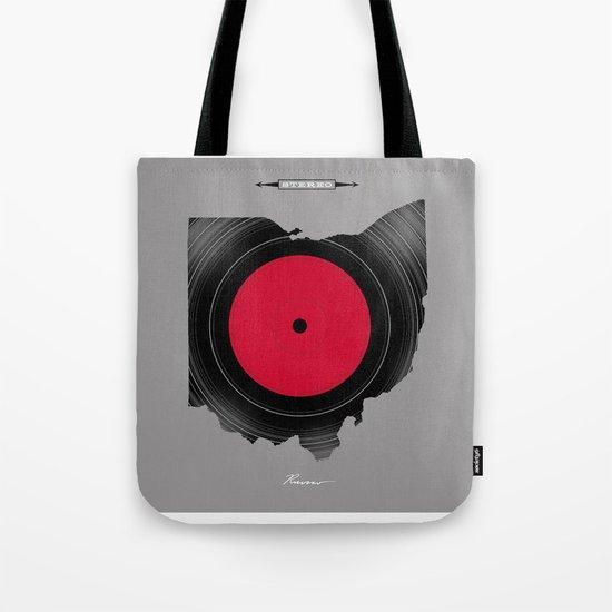 OHIO 33⅓ rpm LP Record Tote Bag
