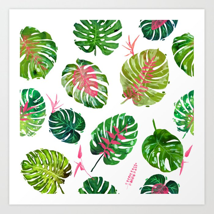 b71702c658 Monstera Love || #illustration #tropical Art Print by 83oranges ...