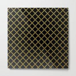 Art Deco: San Francisco Glitter-Gold and Black Metal Print