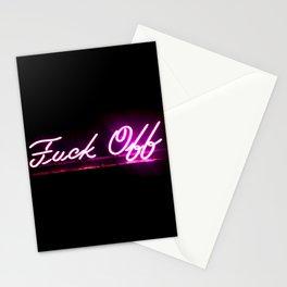 fuck off uv light Stationery Cards