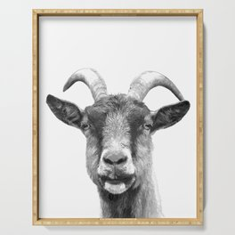Black and White Goat Serving Tray
