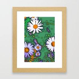 Summer Daisies Framed Art Print