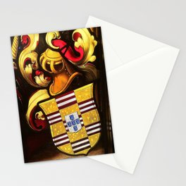Knightarms in stained glass Stationery Cards