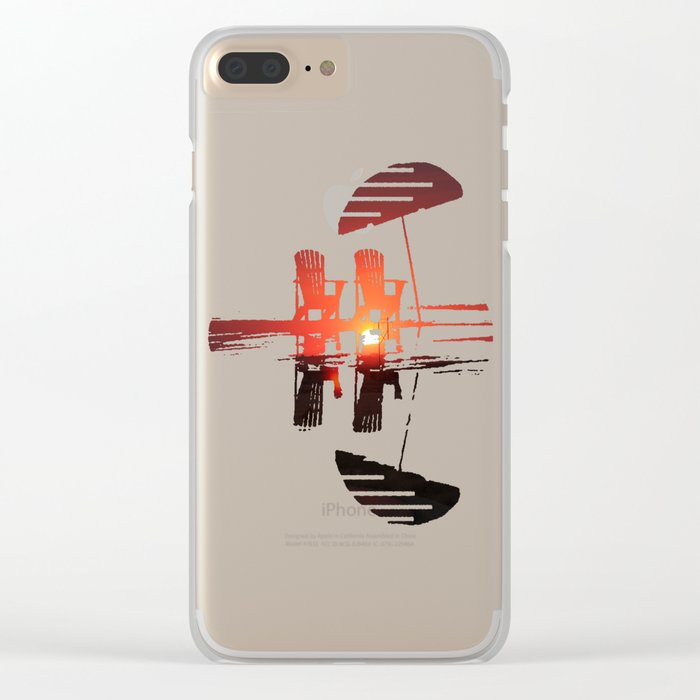 Sunset Highway Clear iPhone Case