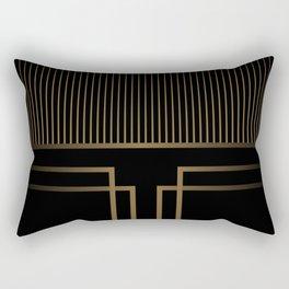 Art Deco Gold/Black Pattern II Rectangular Pillow