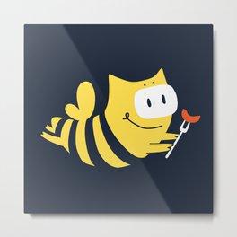 Bee-Bee-Q Metal Print
