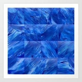 blues en tous sens / square blues Art Print