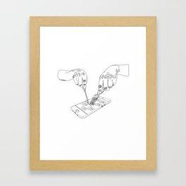 Devouring social media Framed Art Print