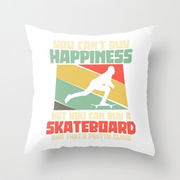 Skateboard skateboarding skater gift Throw Pillow