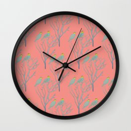 Bee Eaters Wall Clock