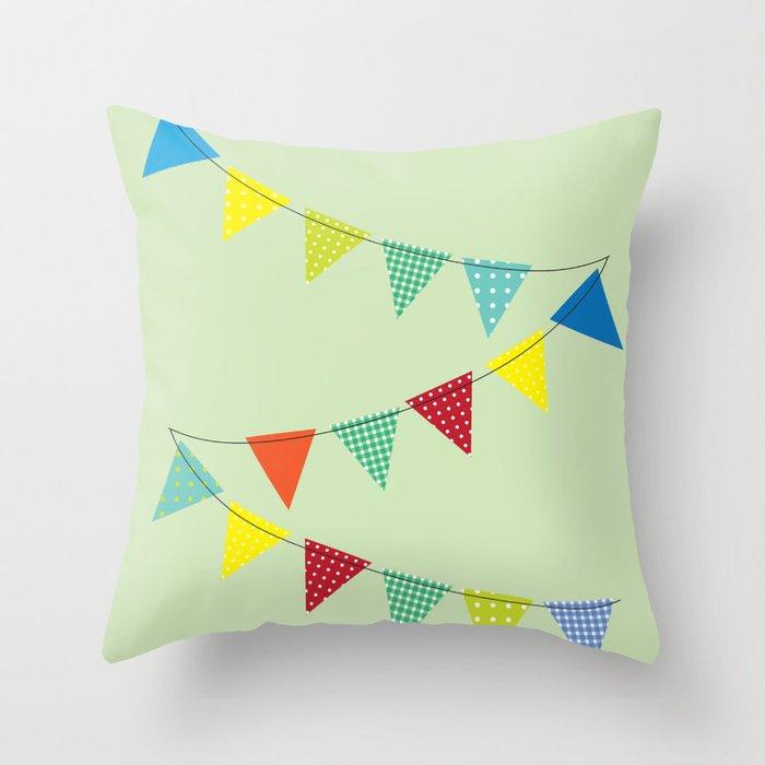 Hurray for boys! Throw Pillow
