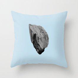 Blue Boulder Throw Pillow