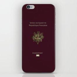 French Passport  iPhone Skin