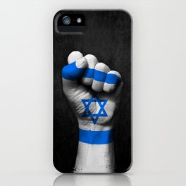 Israeli Flag on a Raised Clenched Fist iPhone Case
