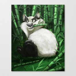 the guardian of the bamboo forest Canvas Print