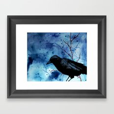 Crow Veins Watercolor/Pen & Ink Framed Art Print