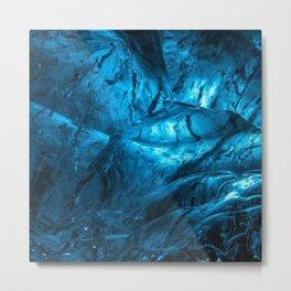 Dark Blue Ice Metal Print
