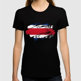 Costa Rica Flag Tee T-shirt