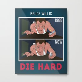 Die Hard - Bruce Willis Art Print Wall Decor Typography Inspirational Poster Motivational Movie Metal Print