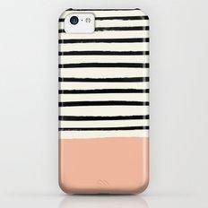 Peach x Stripes iPhone 5c Slim Case