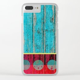 shabby chic wood art Clear iPhone Case