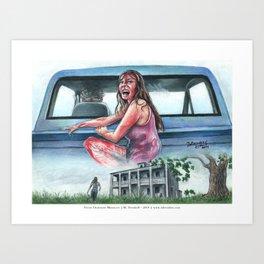 Texas Chainsaw Massacre Illustration  Art Print