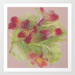 Pink tulips Art Print