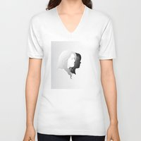 allison argent V-neck T-shirts featuring Lydia and Allison in Profile by Kjerstin A