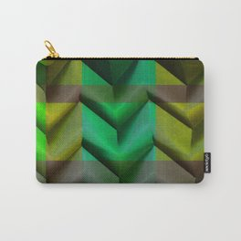 Green Vintage paper fold origami Carry-All Pouch