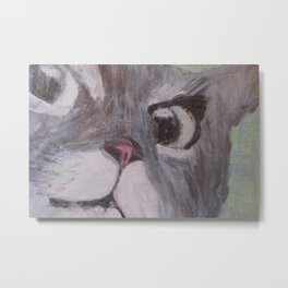 Surprise Cat Metal Print