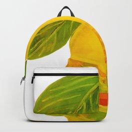 Eat Green Love Planet Pear Burger with Avocado Veggie Cheese White BG Art Print Backpack