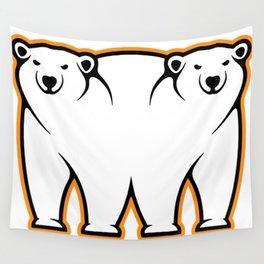 Bi-Polar Bears Wall Tapestry