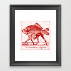 IF FISHES HAD LEGS (red) Framed Art Print